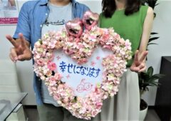 今月もハピネスはご成婚からのスタートです\(^o^)/笑顔一杯のお二人がご成婚手続きにご来店されました(*^^)v