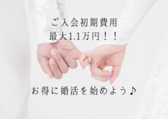初期費用最大1.1万円!お得な料金プランで結婚相談所での婚活をお得に始めてみませんか?